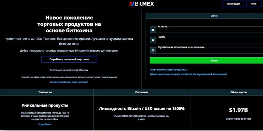 криптобиржи топ-10 BitMex