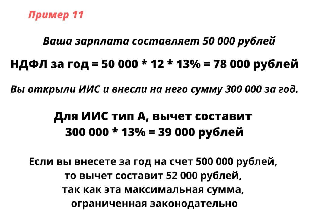 оформление налогового вычета на инвестиции